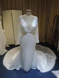Custom long sleeve wedding dresses for sale.  #Replicas of couture designs are also an option.