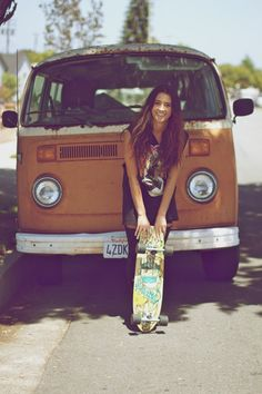 Skateboarding and VW's=a very hipster summer <3 love it.