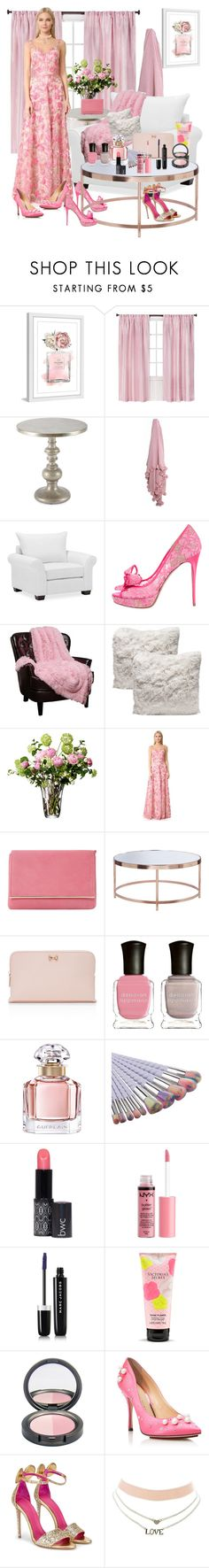 """""""What pair of shoes will she choose?"""" by jaja8x8 ❤ liked on Polyvore featuring Marmont Hill, Shabby Chic, Hooker Furniture, Pottery Barn, Valentino, LSA International, Notte by Marchesa, Dune, Ted Baker and Deborah Lippmann"""