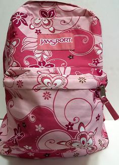 http://www.ebay.com/itm/300892075685?ssPageName=STRK:MESELX:IT&_trksid=p3984.m1555.l2649  Jansport Backpack Flowered Pink, just right for that little girl! $14.99!
