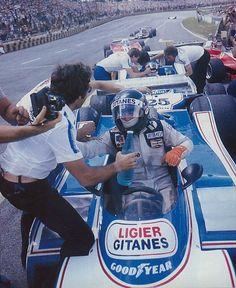 "luimartins: ""Jacques Laffite Patrick Depailler Ligier Brasil GP 1979 "" Plus F1 Racing, Racing Team, Grand Prix, Gp Do Brasil, Alpine Renault, F1 S, Matra, Formula 1 Car, Vintage Racing"