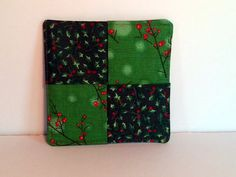 Christmas Coasters  Set of 4 by PatchworkByPaula on Etsy, $9.00