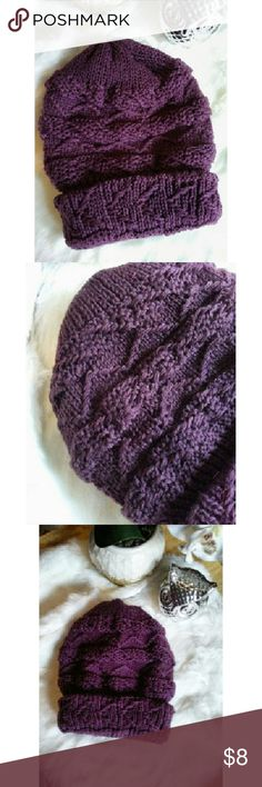 ✨ Last One✨Plum Cable Knit Beanie Keep your head warm and stylish in this plum cable knit beanie. It will definitely add some color to your outfit.   ~ Ask all questions before purchase ~ Feel free to submit offers ~ Bundle and save Accessories Hats