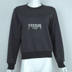 2016 Crop Sweatshirt Women Fashion Casual Hip Hop Tops Yeezus Printed Cropped Top Cool Streetwear High Quality Pullover nwy428-in Hoodies & Sweatshirts from Women's Clothing & Accessories on Aliexpress.com | Alibaba Group