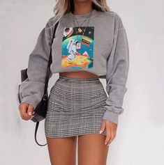 Fall Fashion Outfits and Street Style Casual Look Ideas of Trend Clothing - .- Herbstmode Outfits und Street Style Casual Look Ideen von Trend-Kleidung – Fall Fashion Outfits and Street Style Casual Look Ideas … - Retro Outfits, Girly Outfits, Cute Casual Outfits, Stylish Outfits, Casual Clothes, Cute Outfits With Skirts, Summer Clothes, Comfortable Clothes, Teenage Outfits