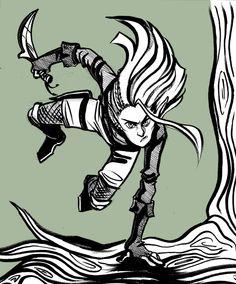 Legolas by Tash for @Sketch_Dailies