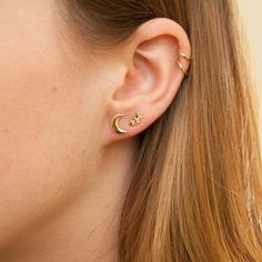 Star constellation, gold stud earrings, tiny star earrings, star earrings, c. Tiny Stud Earrings, Circle Earrings, Crystal Earrings, Crystal Jewelry, Diamond Earrings, Feather Earrings, Moon And Star Earrings, Double Earrings, Indian Earrings