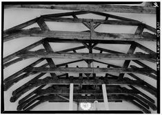 "Detail of Palatine Church, early German immigrants. Library of Congress, ""FRAMING DETAIL OF ROOF. - Palatine Church, State Route 5, Nelliston, Montgomery County, NY,"" digital file from originial negative."