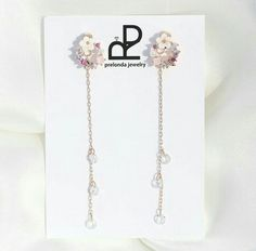 Korean Accessories, Frou Frou, Jewelries, Ear Piercings, Fashion Earrings, Bling Bling, Jewerly, Arrow Necklace, Diamonds