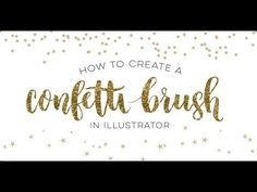 In this week& quick tip tutorial, I share how to create a confetti brush in Illustrator using two different examples: uniform and random.