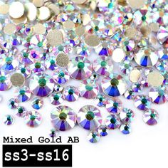 1 Pack Top Super Shining Crystal AB Color Mixed (SS3 SS16) Charm Nail Art  Rhinestones Decorations Golden Flatback 3d Nail Tools-in Rhinestones    Decorations ... c9a1a5611366