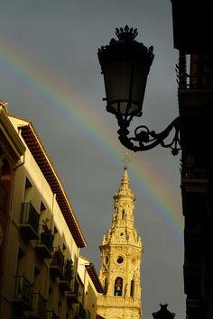 Logroño , La Rioja. Vistas de la catedral de La Redonda