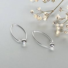 Iced out-Bamboo Hoops aretes de plata 5cm