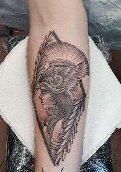 Athena by Kalun Miles at Bloodlines Ink, Perth God Tattoos, Forarm Tattoos, Badass Tattoos, Sexy Tattoos, Body Art Tattoos, Tattoos For Women, White Tattoos, Ankle Tattoos, Arrow Tattoos