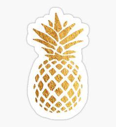 Gold Foil Pineapple Sticker