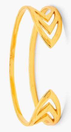 This gold pointed chevron cuff is so unique.