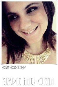 Colar Golden Straw