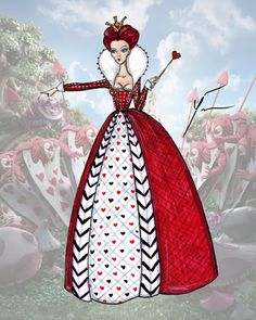 Alice In Wonderland Queen Of Hearts By Yigit Ozcakmak