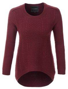 LE3NO Womens Oversized Cozy Long Sleeve Soft Knit Pullover Sweater
