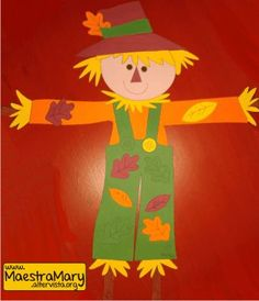 Fall Crafts For Kids, Diy And Crafts, Arts And Crafts, Paper Crafts, Scarecrow Crafts, Art Projects, Projects To Try, Step Kids, Classroom Decor