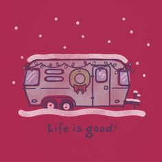 Women's Holiday Airstream Short Sleeve Tee | Life is good