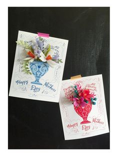 May Day - cards with crepe flowers (tutorial)