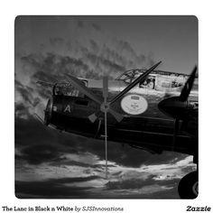 The Lanc in Black n White Square Wallclock
