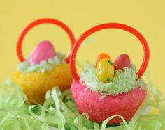 Easter basket cookies. I made these last year. They are so cute and they taste so good.