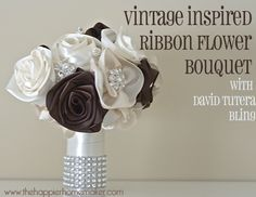 Fabric Flower Bouquet by The Happier Homemaker.