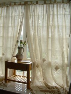 Curtains, Drapes & Valances French Country Lace Window Valance Curtain Blackout Drape Panel W/ Hook & Garden Beige Curtains, Cotton Curtains, Drapes Curtains, Lace Curtain Panels, Linen Curtain, Curtain Material, Window Panels, Lace Window, Blackout Drapes