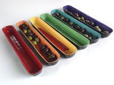 Olive trays by Donna Lashof. See her artist profile at www.ArtsBusinessInstitute.org