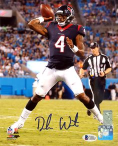 This is an 8x10 Photo that has been hand signed by Deshaun Watson. It has been certified authentic by Beckett Authentication Services (BAS) and comes with their sticker and matching certificate of authenticity.