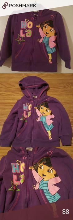 Girls Dora The Explorer Hoodie Girls Dora The Explorer Hoodie...Size 2T...60% Cotton 40% Polyester....Super Cute Nickelodeon Shirts & Tops Sweatshirts & Hoodies