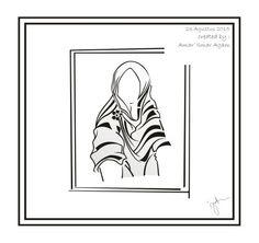 Hijab vector 9