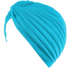 4f25ad0de8a Buy Twisted Pleated Stretchable Polyester Women's Swim Bathing Turban Head  Cover / Sun Cap - Turquoise Blue: Shop top fashion brands Hats & Caps at ...