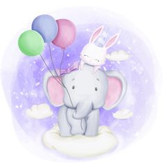 Elephant and rabbit celebrate birthday friendship day PNG and Vector Happy Birthday Text, Happy Birthday Celebration, Celebration Balloons, Celebration Background, Little Elephant, Cute Elephant, Cartoon Cartoon, Birthday Greeting Cards, Birthday Greetings