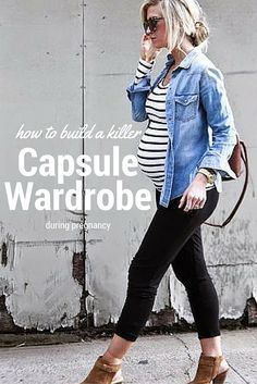 How to create your maternity capsule wardrobe more spring maternity fashion, Maternity Capsule Wardrobe, Pregnancy Wardrobe, Pregnancy Outfits, Pregnancy Tips, Pregnancy Belly, Early Pregnancy, Wardrobe Capsule, Pregnancy Jeans, Fake Pregnancy