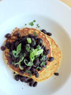 savory corn pancakes. de-lish.