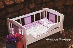 Vintage doll crib