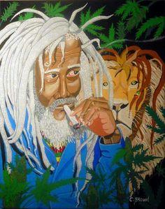 Seeking Higher Heights By Carl G. Bob Marley, Rastafari Art, Rasta Art, Scary Tales, Black Is Beautiful, Black Art, Reggae, Black History, Psychedelic