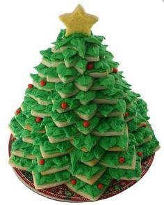 3D Christmas tree cookie