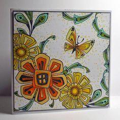 Chocolate Baroque Design Team: Sunny Sketchy Fun (posted by Claire) Baroque Design, Baroque Art, Cool Cards, Diy Cards, Handmade Cards, Flower Doodles, Doodle Flowers, Tangle Doodle, Zentangle