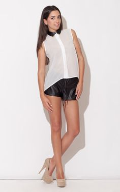 Spice it up with some faux leather shorts! Dressed up or down, you're sure to turn heads!