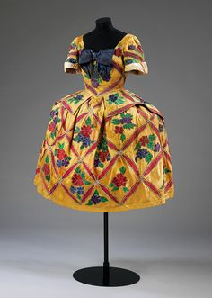 Costume for Mariuccia in Leonide Massine's ballet 'The Good-Humoured Ladies', designed by Leon Bakst, Diaghilev Ballet Russes, 1917.
