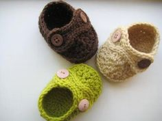 Boy's Striders Crochet Baby Booties (pdf pattern for sale)