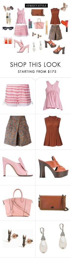 """Street style.."" by jamuna-kaalla ❤ liked on Polyvore featuring Lemlem, Teija, Philosophy di Lorenzo Serafini, Marni, Sergio Rossi, Yves Saint Laurent, Louis Vuitton, Coach, Sydney Evan and Oscar de la Renta"