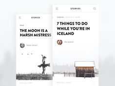 Hi Guys, Experiment on the Layouts of Stories app. Cheers