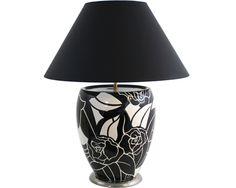 """Lampe GM """"Rose Noire"""" Émaux de Longwy, design Danillo Curetti"""