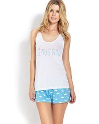 Forever 21 | Blue Cloud 9 Pj Set | Lyst