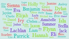Popular choices ... Some of the top 100 names of 2012.